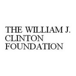 mark for THE WILLIAM J. CLINTON FOUNDATION, trademark #78597625