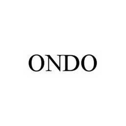 mark for ONDO, trademark #78597968