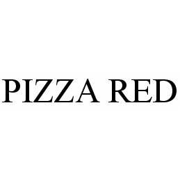 mark for PIZZA RED, trademark #78599095