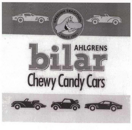 mark for AHLGRENS BILAR CHEWY CANDY CARS SWEDISH TRADITION SINCE 1953, trademark #78602471