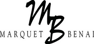 mark for MB MARQUET BENAI, trademark #78602803