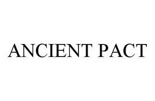 mark for ANCIENT PACT, trademark #78603775