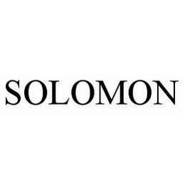 mark for SOLOMON, trademark #78604042
