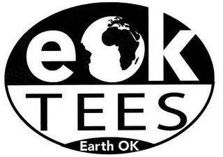 mark for EOK TEES EARTH OK, trademark #78604705