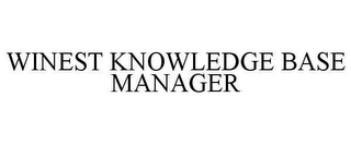 mark for WINEST KNOWLEDGE BASE MANAGER, trademark #78609146