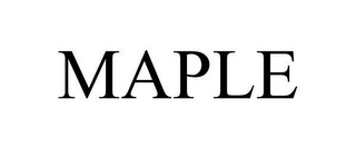 mark for MAPLE, trademark #78610415