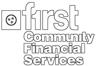 mark for F1RST COMMUNITY FINANCIAL SERVICES, trademark #78613805