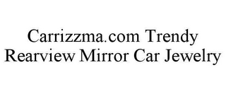 mark for CARRIZZMA.COM TRENDY REARVIEW MIRROR CAR JEWELRY, trademark #78615397