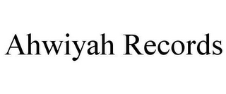 mark for AHWIYAH RECORDS, trademark #78616418