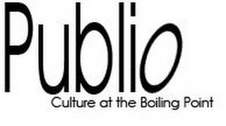 mark for PUBLIO CULTURE AT THE BOILING POINT, trademark #78619436