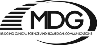 mark for MDG BRIDGING CLINICAL SCIENCE AND BIOMEDCAL COMMUNICATIONS, trademark #78622002