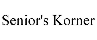 mark for SENIOR'S KORNER, trademark #78623483