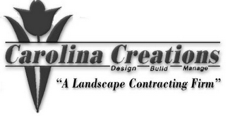 "mark for CAROLINA CREATIONS ""A LANDSCAPE CONTRACTING FIRM"" DESIGN BUILD MANAGE, trademark #78623592"