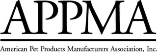 mark for APPMA AMERICAN PET PRODUCTS MANUFACTURERS ASSOCIATION, INC., trademark #78624039