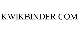 mark for KWIKBINDER.COM, trademark #78624988