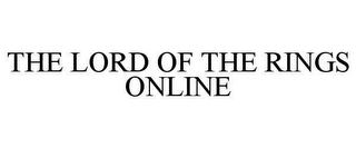 mark for THE LORD OF THE RINGS ONLINE, trademark #78625399