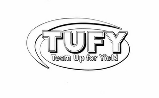 mark for TUFY TEAM UP FOR YIELD, trademark #78625421