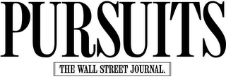 mark for PURSUITS THE WALL STREET JOURNAL., trademark #78626654