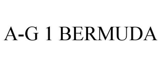 mark for A-G 1 BERMUDA, trademark #78627014