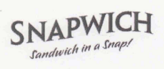 mark for SNAPWICH SANDWICH IN A SNAP!, trademark #78627951