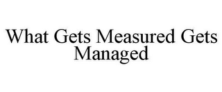 mark for WHAT GETS MEASURED GETS MANAGED, trademark #78630273