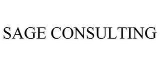 mark for SAGE CONSULTING, trademark #78631649