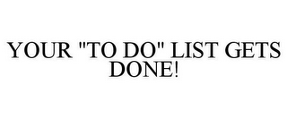 "mark for YOUR ""TO DO"" LIST GETS DONE!, trademark #78635032"