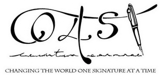 mark for 4 COAST CHANGING THE WORLD ONE SIGNATURE AT A TIME, trademark #78637491