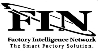 mark for FIN FACTORY INTELLIGENCE NETWORK THE SMART FACTORY SOLUTION., trademark #78637709