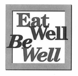 mark for EAT WELL BE WELL, trademark #78637942