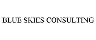 mark for BLUE SKIES CONSULTING, trademark #78638036