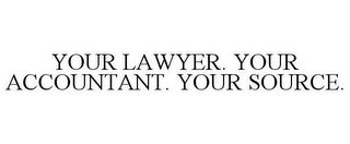 mark for YOUR LAWYER. YOUR ACCOUNTANT. YOUR SOURCE., trademark #78638536