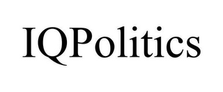 mark for IQPOLITICS, trademark #78639026