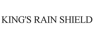 mark for KING'S RAIN SHIELD, trademark #78642353