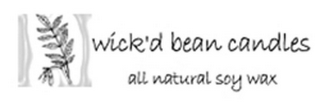 mark for WICK'D BEAN CANDLES ALL NATURAL SOY WAX, trademark #78644607