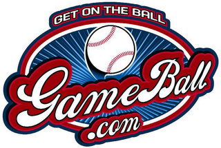 mark for GAMEBALL.COM GET ON THE BALL, trademark #78646421