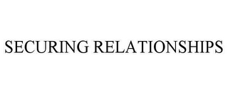 mark for SECURING RELATIONSHIPS, trademark #78648173