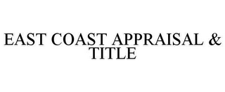 mark for EAST COAST APPRAISAL & TITLE, trademark #78648440