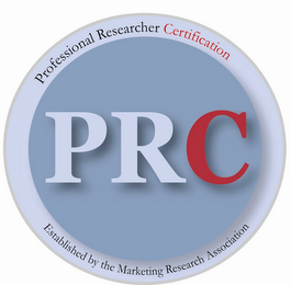 mark for PRC PROFESSIONAL RESEARCHER CERTIFICATION ESTABLISHED BY THE MARKETING RESEARCH ASSOCIATION, trademark #78649965