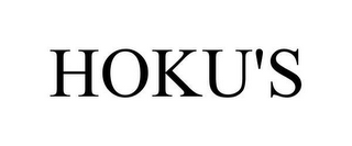 mark for HOKU'S, trademark #78650365