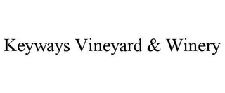mark for KEYWAYS VINEYARD & WINERY, trademark #78651684