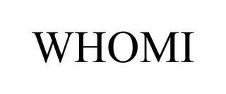 mark for WHOMI, trademark #78653887