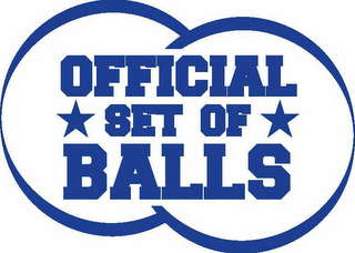 mark for OFFICIAL SET OF BALLS, trademark #78654040