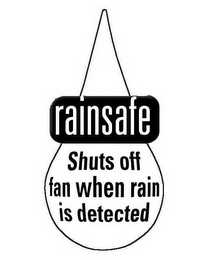 mark for RAINSAFE SHUTS OFF FAN WHEN RAIN IS DETECTED, trademark #78654424