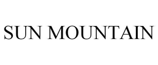 mark for SUN MOUNTAIN, trademark #78654427