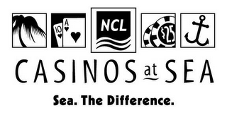 mark for CASINOS AT SEA SEA. THE DIFFERENCE. NCL, trademark #78656186