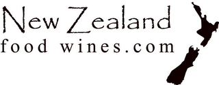 mark for NEW ZEALAND FOOD WINES.COM, trademark #78656687