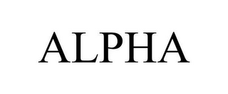 mark for ALPHA, trademark #78658185