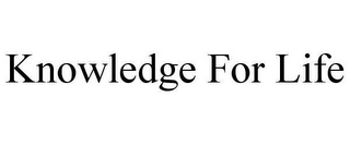 mark for KNOWLEDGE FOR LIFE, trademark #78658859