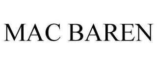 mark for MAC BAREN, trademark #78659318